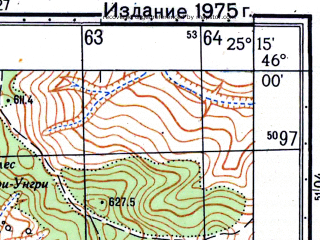 Reduced fragment of topographic map ru--gs--050k--l35-075-1--N046-00_E025-00--N045-50_E025-15