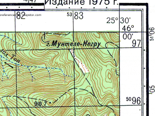 Reduced fragment of topographic map ru--gs--050k--l35-075-2--N046-00_E025-15--N045-50_E025-30