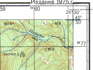 Reduced fragment of topographic map ru--gs--050k--l35-077-4--N045-50_E026-15--N045-40_E026-30