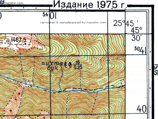 Reduced fragment of topographic map ru--gs--050k--l35-088-3--N045-30_E025-30--N045-20_E025-45; towns and cities Busteni