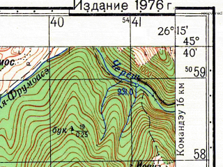 Reduced fragment of topographic map ru--gs--050k--l35-089-1--N045-40_E026-00--N045-30_E026-15
