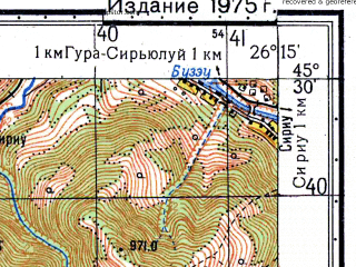 Reduced fragment of topographic map ru--gs--050k--l35-089-3--N045-30_E026-00--N045-20_E026-15
