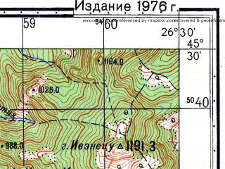 Reduced fragment of topographic map ru--gs--050k--l35-089-4--N045-30_E026-15--N045-20_E026-30