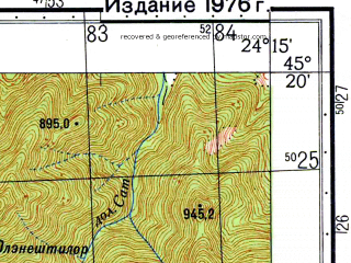 Reduced fragment of topographic map ru--gs--050k--l35-097-1--N045-20_E024-00--N045-10_E024-15