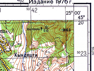 Reduced fragment of topographic map ru--gs--050k--l35-098-2--N045-20_E024-45--N045-10_E025-00; towns and cities Domnesti