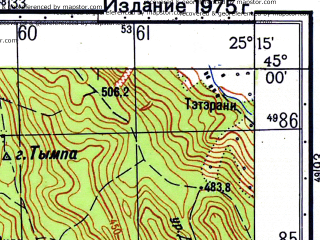 Reduced fragment of topographic map ru--gs--050k--l35-111-1--N045-00_E025-00--N044-50_E025-15