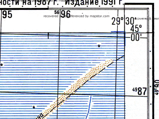 Reduced fragment of topographic map ru--gs--050k--l35-119-2--N045-00_E029-15--N044-50_E029-30