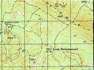 Reduced fragment of topographic map ru--gs--050k--l37-126-2--N044-40_E038-45--N044-30_E039-00