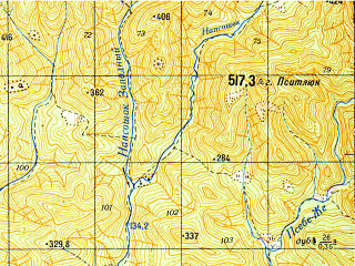 Reduced fragment of topographic map ru--gs--050k--l37-138-2--N044-20_E038-45--N044-10_E039-00