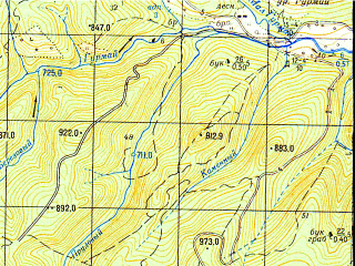Reduced fragment of topographic map ru--gs--050k--l37-141-4--N044-10_E040-15--N044-00_E040-30