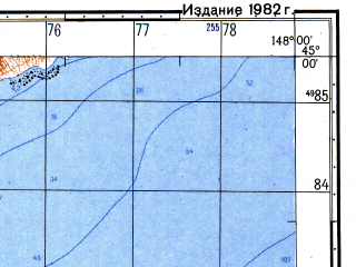 Reduced fragment of topographic map ru--gs--050k--l55-116-2--N045-00_E147-45--N044-50_E148-00; towns and cities Sernozavodskiy