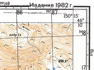 Reduced fragment of topographic map ru--gs--050k--l56-061-3--N046-10_E150-00--N046-00_E150-15