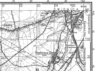 Reduced fragment of topographic map ru--gs--050k--m33-045-4--N050-50_E016-15--N050-40_E016-30; towns and cities Walbrzych, Walim
