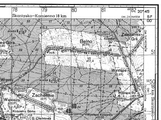 Reduced fragment of topographic map ru--gs--050k--m34-042-1--N051-00_E020-30--N050-50_E020-45; towns and cities Kielce