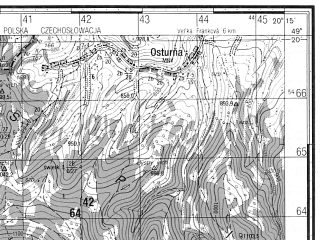 Reduced fragment of topographic map ru--gs--050k--m34-101-1--(1985)--N049-20_E020-00--N049-10_E020-15