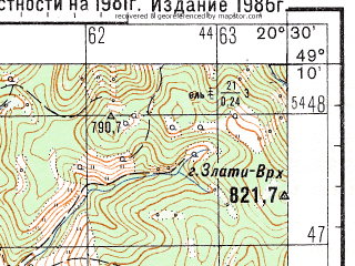 Reduced fragment of topographic map ru--gs--050k--m34-101-4--N049-10_E020-15--N049-00_E020-30; towns and cities Poprad, Kezmarok