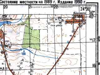 Reduced fragment of topographic map ru--gs--050k--m35-049-2--N050-40_E024-15--N050-30_E024-30; towns and cities Ivanichi, Stenyatyn, Zabolottsy, Pavlovka