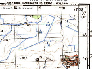 Reduced fragment of topographic map ru--gs--050k--m35-073-2--N050-00_E024-15--N049-50_E024-30; towns and cities Velikoselki, Zadvor'ye, Borshchovichi