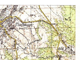 Reduced fragment of topographic map ru--gs--050k--m35-122-1--N048-40_E024-30--N048-30_E024-45; towns and cities Nadvornaya, Delyatin, Lanchin, Chernyy Potok, Krasnaya