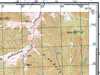 Reduced fragment of topographic map ru--gs--050k--m35-133-3--N048-10_E024-00--N048-00_E024-15; towns and cities Rakhov, Belin, Kobyletskaya Polyana, Kosovskaya Polyana