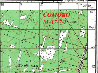 Reduced fragment of topographic map ru--gs--050k--m37-007-4--N051-50_E039-15--N051-40_E039-30; towns and cities Somovo, Babyakovo, Chertovitskoye