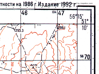 Reduced fragment of topographic map ru--gs--050k--m40-029-3--N051-10_E056-00--N051-00_E056-15