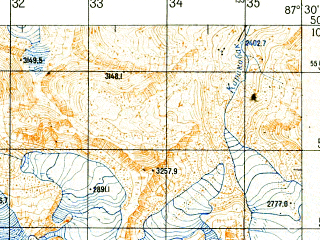 Reduced fragment of topographic map ru--gs--050k--m45-067-4--N050-10_E087-15--N050-00_E087-30