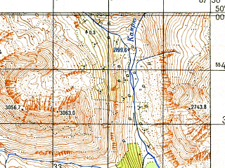 Reduced fragment of topographic map ru--gs--050k--m45-079-2--N050-00_E087-15--N049-50_E087-30