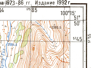 Reduced fragment of topographic map ru--gs--050k--m47-009-3--N051-50_E100-00--N051-40_E100-15