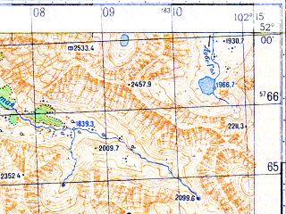 Reduced fragment of topographic map ru--gs--050k--m48-001-1--N052-00_E102-00--N051-50_E102-15