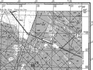 Reduced fragment of topographic map ru--gs--050k--n33-082-4--N053-50_E016-45--N053-40_E017-00; towns and cities Czarne