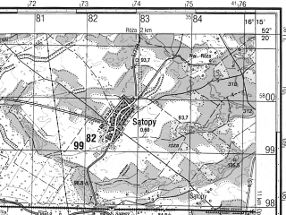 Reduced fragment of topographic map ru--gs--050k--n33-141-1--N052-20_E016-00--N052-10_E016-15; towns and cities Nowy Tomysl