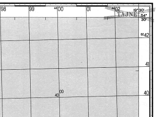 Reduced fragment of topographic map ru--gs--050k--n34-051-4--N054-30_E019-15--N054-20_E019-30