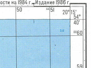 Reduced fragment of topographic map ru--gs--050k--n34-053-1--N054-40_E020-00--N054-30_E020-15; towns and cities Komsomol'sk, Ladushkin
