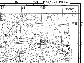 Reduced fragment of topographic map ru--gs--050k--n35-036-2--N055-20_E029-45--N055-10_E030-00