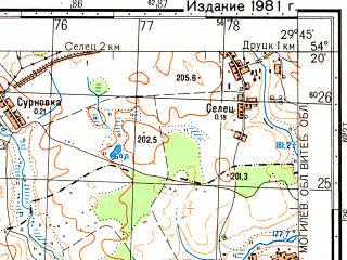 Reduced fragment of topographic map ru--gs--050k--n35-072-1--(1981)--N054-20_E029-30--N054-10_E029-45