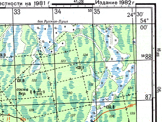 Reduced fragment of topographic map ru--gs--050k--n35-073-2--(1982)--N054-00_E024-15--N053-50_E024-30