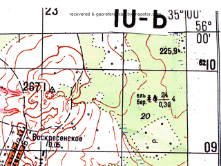 Reduced fragment of topographic map ru--gs--050k--n36-010-2--N056-00_E034-45--N055-50_E035-00; towns and cities Karmanovo