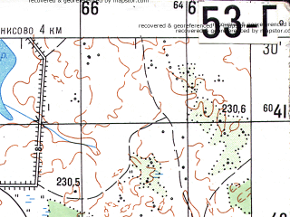Reduced fragment of topographic map ru--gs--050k--n36-053-4--N054-30_E032-15--N054-20_E032-30; towns and cities Pochinok