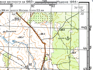 Reduced fragment of topographic map ru--gs--050k--n36-060-4--N054-30_E035-45--N054-20_E036-00