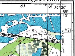 Reduced fragment of topographic map ru--gs--050k--n37-019-2--N055-40_E039-15--N055-30_E039-30; towns and cities Shaturtorf