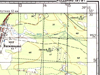 Reduced fragment of topographic map ru--gs--050k--n37-019-3--N055-30_E039-00--N055-20_E039-15; towns and cities Yegor'yevsk, Klemenovo, Krasnyy Tkach, Pominovo