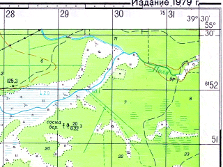 Reduced fragment of topographic map ru--gs--050k--n37-019-4--N055-30_E039-15--N055-20_E039-30; towns and cities Vozhd' Proletariata