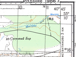 Reduced fragment of topographic map ru--gs--050k--n37-034-3--N055-10_E040-30--N055-00_E040-45; towns and cities Tuma