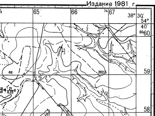 Reduced fragment of topographic map ru--gs--050k--n37-053-2--N054-40_E038-15--N054-30_E038-30; towns and cities Mordves
