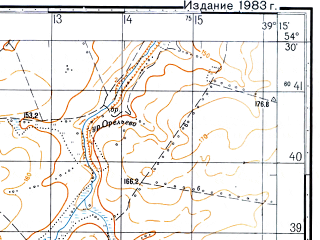 Reduced fragment of topographic map ru--gs--050k--n37-055-3--(1981)--N054-30_E039-00--N054-20_E039-15