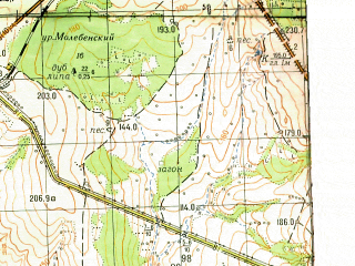 Reduced fragment of topographic map ru--gs--050k--n39-099-2--(1964)--N053-20_E049-15--N053-10_E049-30