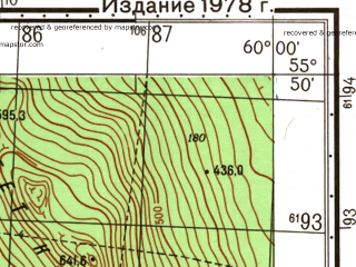 Reduced fragment of topographic map ru--gs--050k--n40-012-4--N055-50_E059-45--N055-40_E060-00