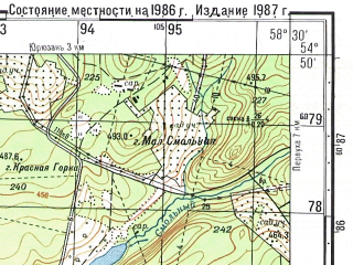 Reduced fragment of topographic map ru--gs--050k--n40-045-4--N054-50_E058-15--N054-40_E058-30; towns and cities Yekaterinovka