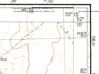 Reduced fragment of topographic map ru--gs--050k--n40-135-3--N052-10_E055-00--N052-00_E055-15